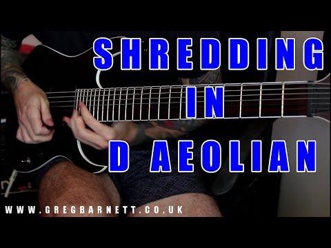 Shred Solo | Free Jam Track - D Aeolian/180 BPM | Greg Barnett