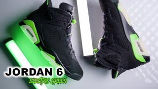 Air Jordan 6 Electric Green | On Foot 4K