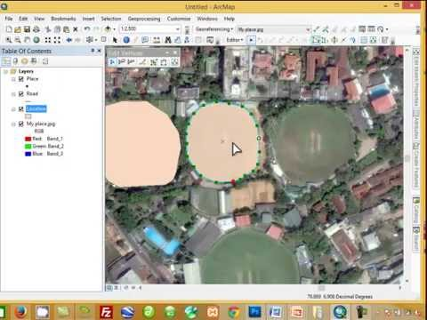 Creating a new shapefiles and digitizing/Georeferencing Image/ Sat Map