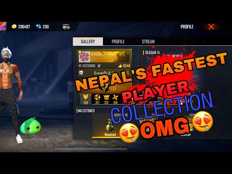Nepal Fastest Player's OP Collection Of Everest Yunik 😳OMG 😳