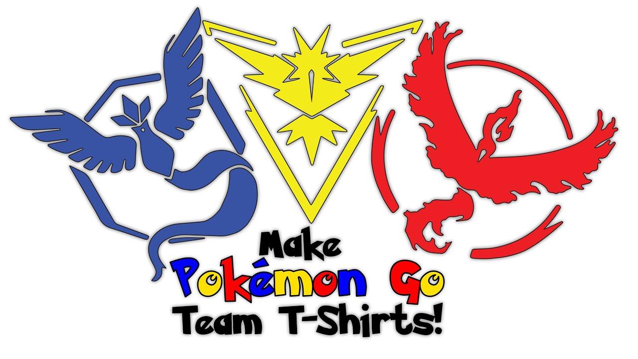 Design t shirt logo free - Make Your Own Pokemon Go Team T Shirts Free Printable