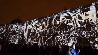 Лазерное шоу на Дворцовой площади.