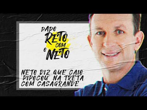 """Neto fala sobre discussão entre Caio e Casagrande: """"O Caio deu uma pipocada monstruosa"""""""