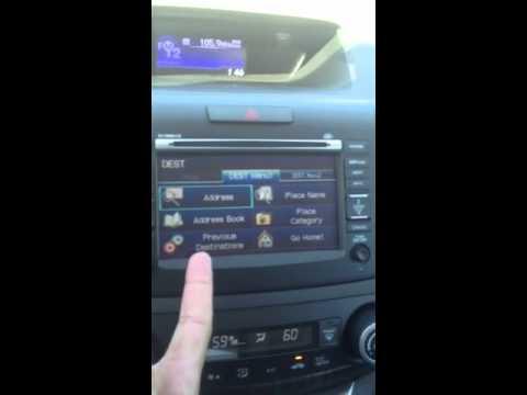 2013 Honda crv navigation overview