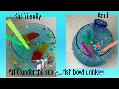 Artic Under The Sea Fish Bowl Drink