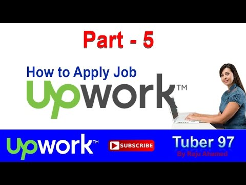 Part_5   How To Apply Upwork Job | How to Apply for Outsourcing Job,