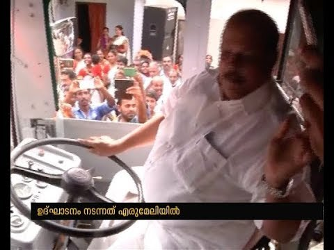 PC George inaugurates a road by driving bus