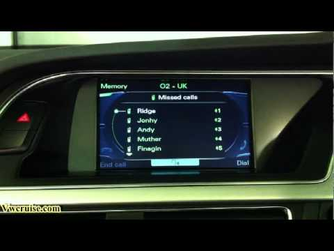 audi mmi 3g sds high bluetooth demo youtube. Black Bedroom Furniture Sets. Home Design Ideas