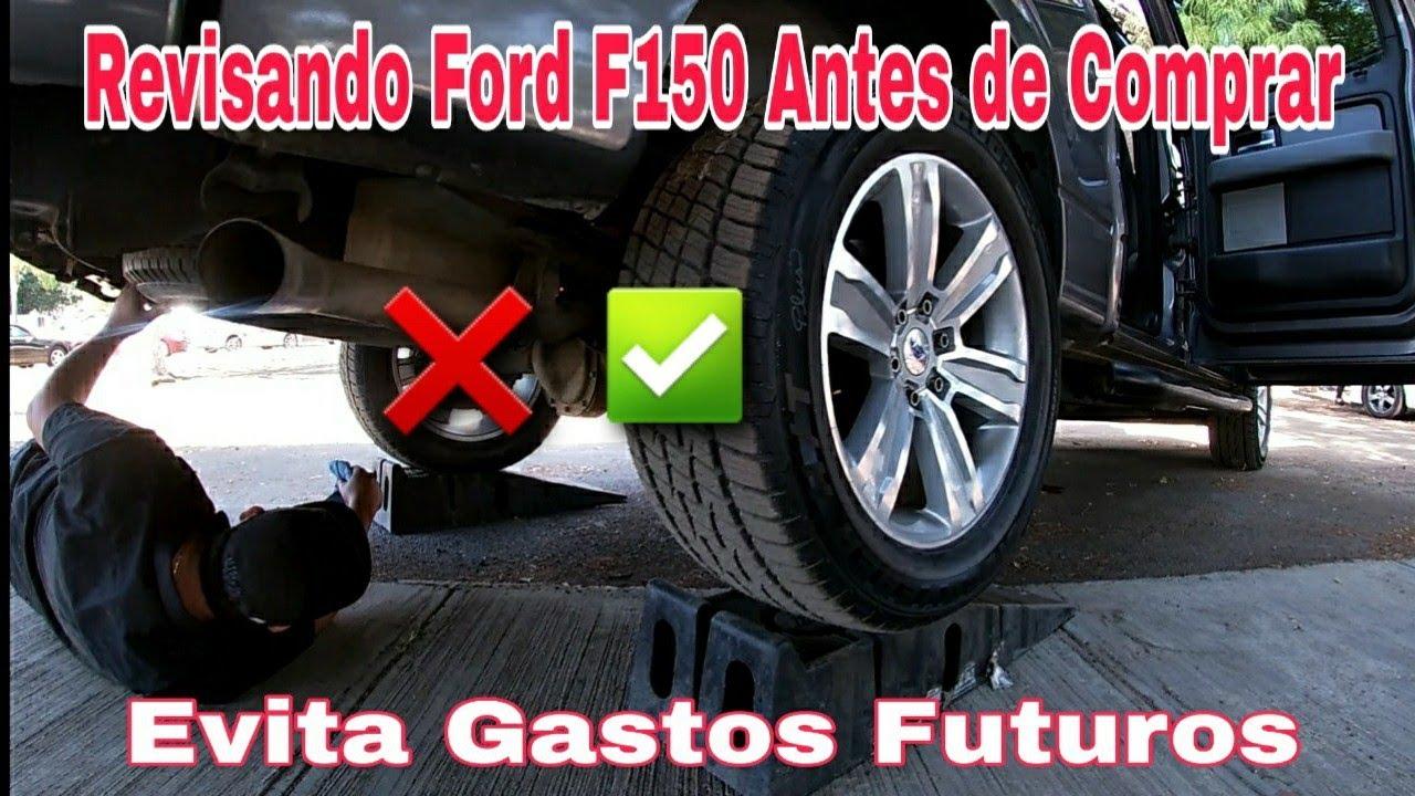 camioneta Ford f150 revisando antes de comprar tianguis de autos