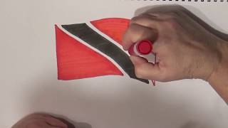Learn geography for kids How to draw a flag Trinidad