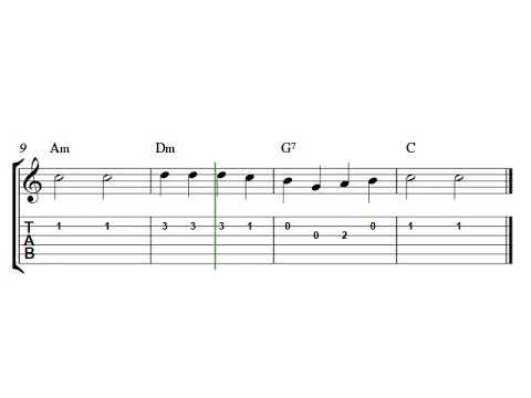 Guitar tab sheet music   Bingo