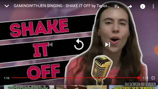 Reacting To GamingWithJen Singing Shake It Off by Taylor Swift.