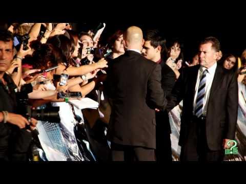 Firma de autógrafos a fans de Taylor Lautner (Kinépolis Madrid)