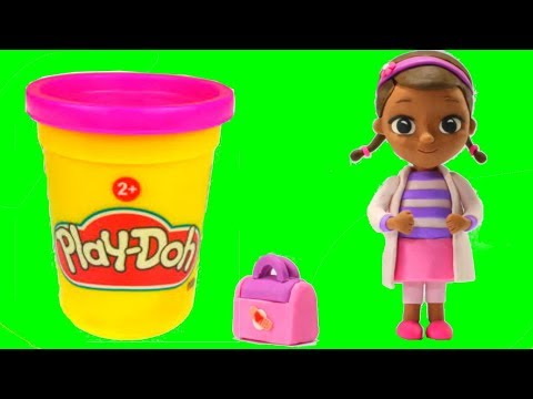 Doc McStuffins Play Doh Cartoons Dra Juguetes Stop Motion Animations & Surprise Toys