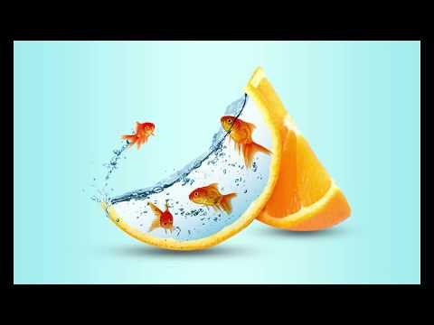 Water Fruit in Photoshop cs6 | Water In Orange 3D