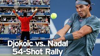 Novak Djokovic vs Rafael Nadal 54-shot rally | 2013 US Open Final