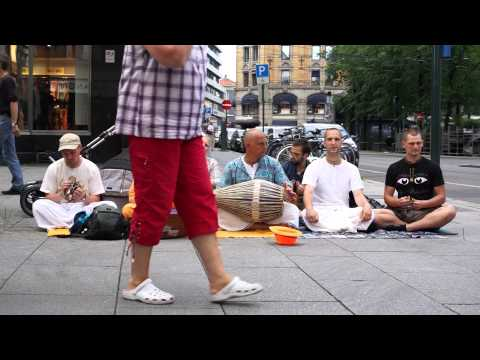 The Hare Krishna's in Oslo, Norway