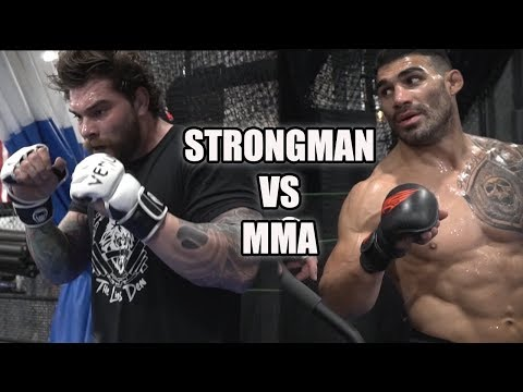 Strongman Vs MMA Fighter Workout (BIG MISTAKE!)