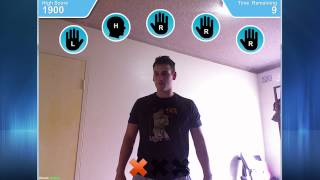Motion game demo using Kinect and Adobe AIR