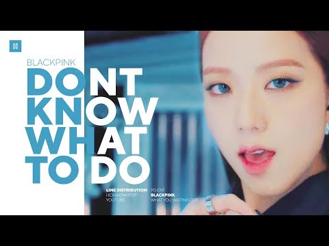 BLACKPINK - Don't Know What To Do Line Distribution (Color Coded) | 블랙핑크