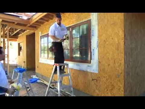 Andersen new construction window install youtube for New construction windows reviews