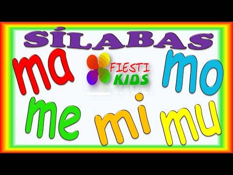 Sílabas Con M Para Niños ma, me, mi, mo, mu Ejemplos y Música, Syllables for Kids in Spanish
