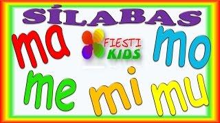 Sílabas Con M Para Niños ma, me, mi, mo, mu Ejemplos y Música, Syllables for Kids in Spanish