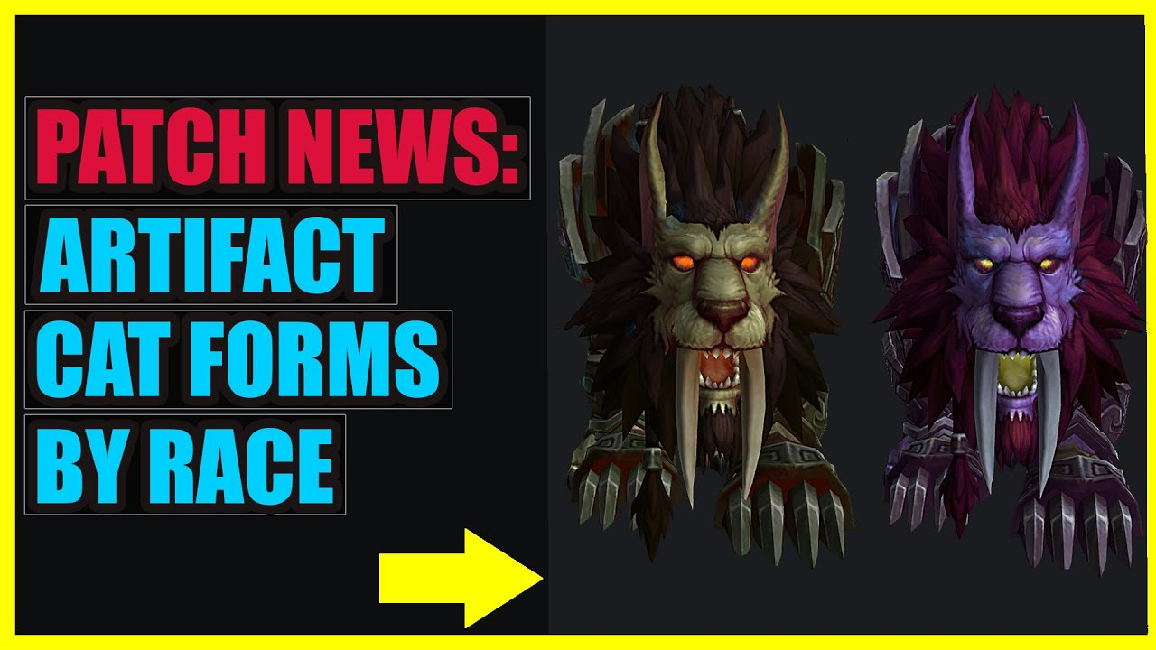 New Druid Artifact Cat Forms by Race   Legion Patch News - YouTube