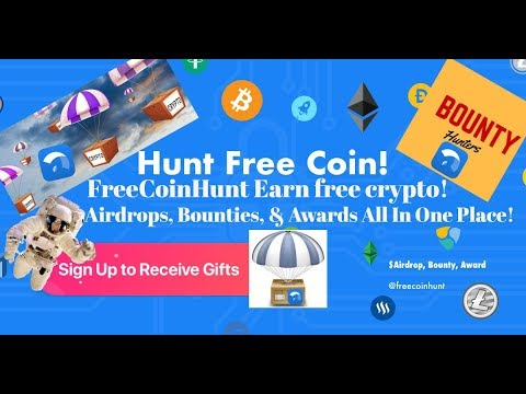 FreeCoin Hunt Get Free Cryptocurrency With Airdrops Bounties & Rewards!
