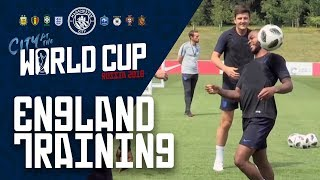 CITY BOYS AT ENGLAND TRAINING | Stones, Sterling, Walker & Delph
