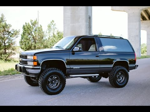 RARE 1997 Chevrolet 2 Door Tahoe Sport 4x4 Lifted Low M ...