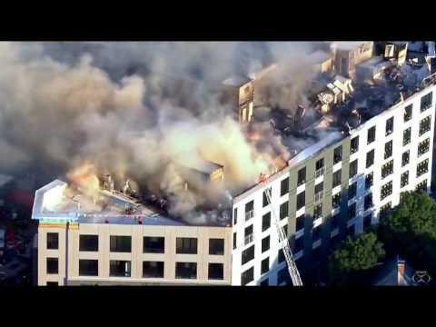 Boston Building Fire 6-28-17  7:30 pm