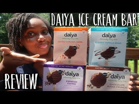 New Daiya Vegan Ice Cream Bar Taste Test + Review (All 4 Flavors!) | Non-Dairy Frozen Dessert