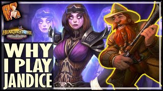 THIS IS WHY I PLAY JANDICE! - Hearthstone Battlegrounds