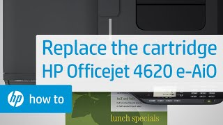Replacing a Cartridge - HP Officejet 4620 e-All-in-One Printer(Don't know which cartridge you need? Visit http://www.suresupply.com. Learn how to replace a cartridge in the HP Officejet 4620 e-All-in-One Printer. The steps ..., 2013-02-20T16:15:19.000Z)