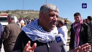 إصابة أكثر من 100 فلسطيني في مواجهات مع قوات الاحتلال جنوب نابلس ( 28/2/2020)