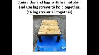 How To... Build A Coffee Table Out Of A Pallet