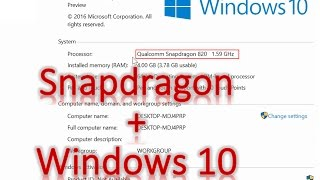 Полноценную версию Windows 10 запустили на процессоре Qualcomm Snapdragon 820