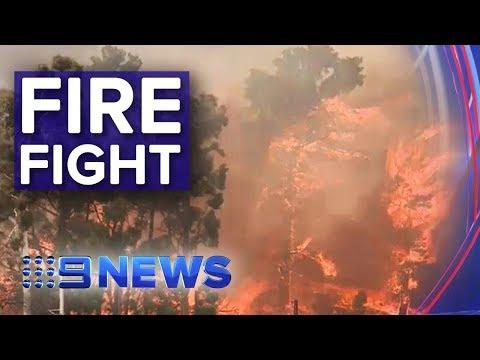 SA fire crews battle uncontained blazes   Nine News Australia