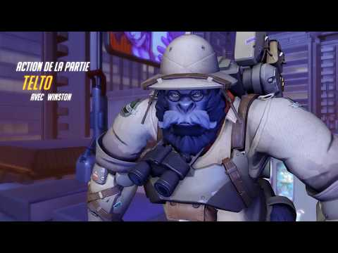 """Overwatch play of the game #1 """"Winston's pentakill"""""""