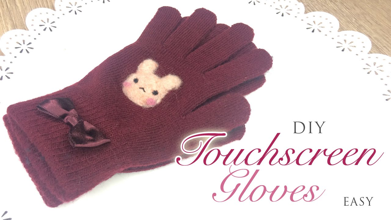 d02926500 DIY Touchscreen Gloves - Easy and Effective Tutorial! - YouTube