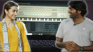 96 Movie BGM | Kadhale Kadhale Song Cover | Piano Cover on Low Scale