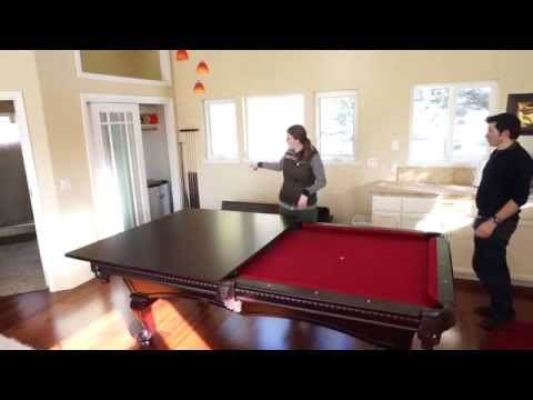 Using The Pool Table Dining Table Conversion Top In The Guest House Youtube