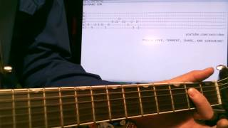 Guitar lesson Kansas Wayward Son tab