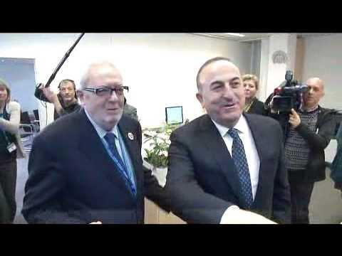 Foreign Minister of Turkey Mevlut Cavusoglu in Strasbourg