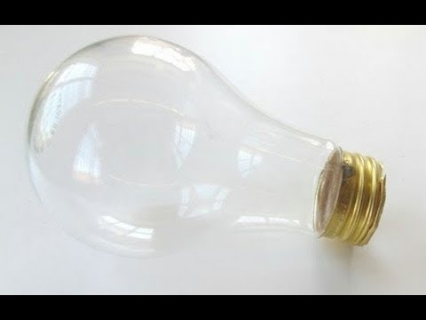 How to empty/hollow a light bulb without breaking it - YouTube