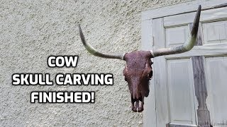 Carving a Cow Skull for a Butcher Shop! (FINISHED)