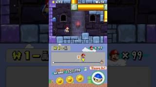 [TAS]New Super Mario Bros. any% 1-Tower secret exit Improvement