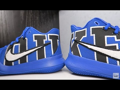 f1904b6856a8 Nike Kyrie 3 DUKE PE Sneaker Detailed Review - YouTube
