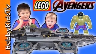 Lego Avenger Hellicarrier Build With Hulk, Ironman Blackwidow Fury By Hobbykidstv